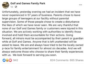 Teenagers Attacked Memphis Putt Putt Golf Center