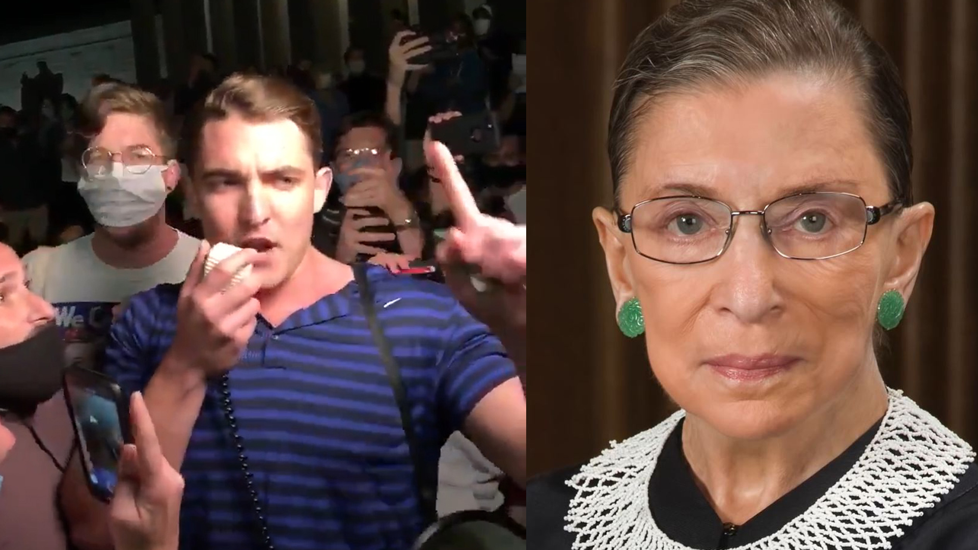 Conspiracy Theorist Jacob Wohl Crashes RBG Vigil