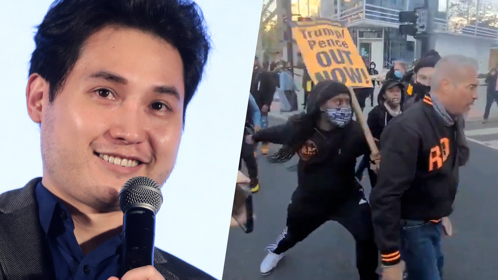 Andy Ngo tweets a misleading video from the Million MAGA March in Washington D.C.
