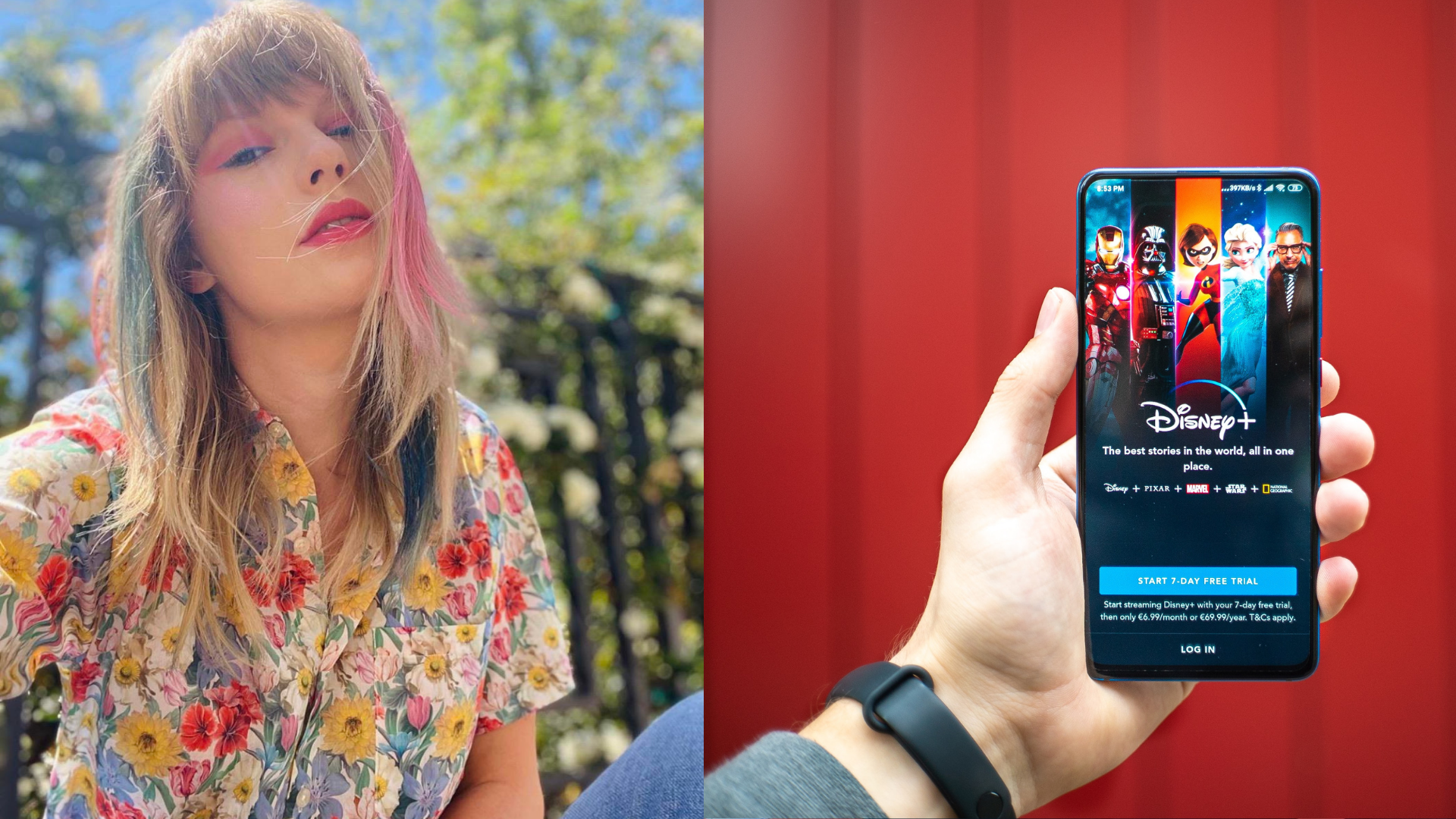 Unsplash and Taylor Swift via Instagram